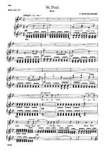 Павел, Op.36: Jerusalem! Jerusalem! Thou That Killest the Prophets, for soprano and piano by Феликс Мендельсон-Бартольди