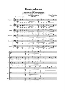 Domine salva nos. SATBBB a cappella, CS175: Domine salva nos. SATBBB a cappella by Santino Cara