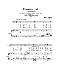Fermarono i cieli: For soprano (or tenor) and piano (or organ), CS185 by Santino Cara