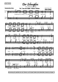 Heitere Dichter Nr.5: Der Schnupfen, Op.384: Heitere Dichter Nr.5: Der Schnupfen by Bernd Gehring