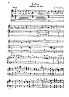 Иисус Навин, HWV 64: Heroes, When with Glory Burning, for voice and piano by Георг Фридрих Гендель
