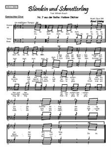 Heitere Dichter Nr.7: Blümlein und Schmetterling, Op.386: Heitere Dichter Nr.7: Blümlein und Schmetterling by Bernd Gehring