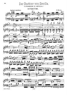 Севильский цирюльник: Увертюра, для фортепиано by Джоаккино Россини