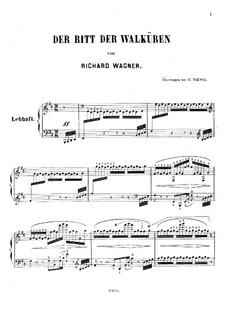Валькирия, WWV 86b: Полет валькирий, для фортепиано by Рихард Вагнер