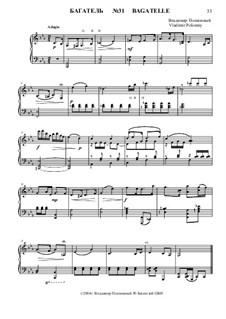 50 Bagatelles GBH: Багатель No.31 by Владимир Полионный