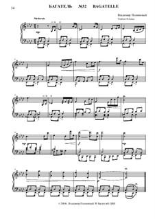 50 Bagatelles GBH: Багатель No.32 by Владимир Полионный