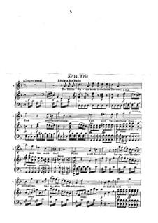 В груди моей пылает жажда мести: Для голоса и фортепиано by Вольфганг Амадей Моцарт