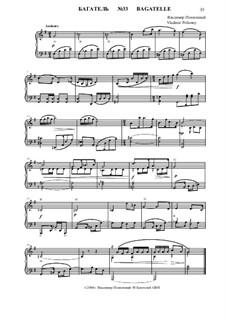 50 Bagatelles GBH: Багатель No.33 by Владимир Полионный