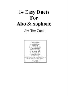 Четырнадцать лёгких дуэтов: Для двух саксофонов by Людвиг ван Бетховен, Стефен Фостер, folklore, Unknown (works before 1850)