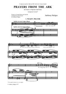 Prayers from the Ark, Op.68: Prayers from the Ark, Op.68 by Anthony Hedges