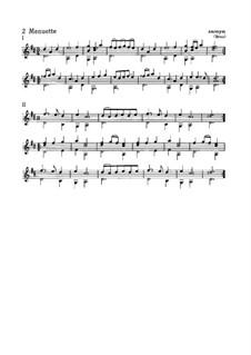 Два менуэта для гитары: Два менуэта для гитары by Unknown (works before 1850)