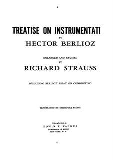 Большой трактат о современной инструментовке и оркестровке, Op.10: Английский текст by Гектор Берлиоз