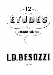 Характеристические этюды, Op.19: No.1-6 by Louis-Désiré Besozzi