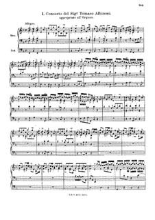 Концерт фа мажор: Версия для органа by Томазо Альбинони
