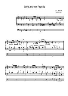 Neumeister Chorales: Jesu, meine Freude, BWV 1105 by Иоганн Себастьян Бах
