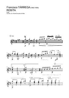 Rosita. Polka: Для гитары by Франсиско Таррега