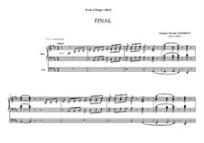 Ecole d'orgue: Final by Жак Николя Лемменс