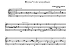 Ecole d'orgue: Hymn 'Creator alme siderum' by Жак Николя Лемменс