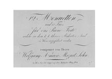 Двенадцать менуэтов и трио: Двенадцать менуэтов и трио by Франц Ксавер Вольфганг Моцарт