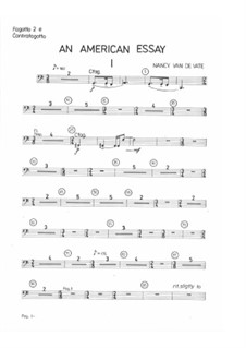An American Essay: Orchestra version - parts by Nancy Van de Vate