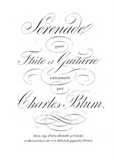 Серенада для флейты и гитары: Серенада для флейты и гитары by Карл Вильгельм Август Блум
