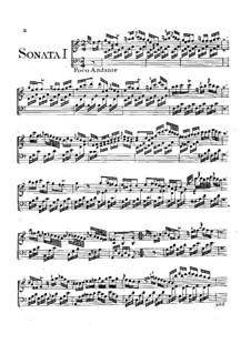 Шесть сонат для клавишного инструмента, G.23: Шесть сонат для клавишного инструмента by Луиджи Боккерини