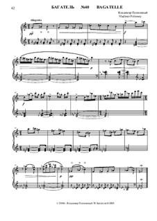 50 Bagatelles GBH: Багатель No.40 by Владимир Полионный