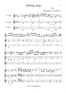 Сюита No.2, Op.55: Песня Сольвейг, для трех гитар by Эдвард Григ