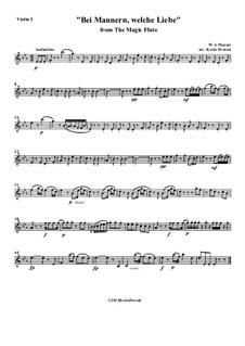 Bei Männern welche Liebe fühlen: Für Sopran, Bariton und Streichquartett by Вольфганг Амадей Моцарт