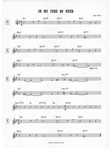 In My Time Of Need: Treble clef version by Jared Plane