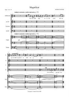 Magnificat and Nunc Dimittis for SATB and Organ: Magnificat and Nunc Dimittis for SATB and Organ by Эндрю Мур