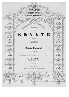Две сонаты, Op.34: Соната No.1 by Муцио Клементи