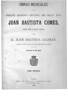 In Dominica prima Adventus: In Dominica prima Adventus by Хуан Баутиста Комес