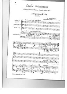 Реквием, H.75 Op.5: No.1 Requiem et Kyrie, for choir and piano by Гектор Берлиоз