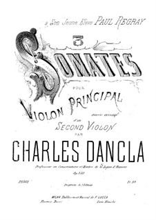 Три сонаты для скрипки, Op.138: Три сонаты для скрипки by Шарль Данкла