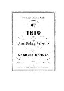 Фортепианное трио No.4, Op.51 No.4: Фортепианное трио No.4 by Шарль Данкла