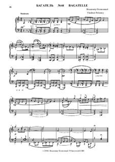 50 Bagatelles GBH: Багатель No.44 by Владимир Полионный