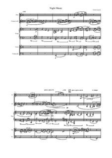 Ночная Музыка для флейты, кларнета, скрипки, виолончели и фортепиано: Ночная Музыка для флейты, кларнета, скрипки, виолончели и фортепиано by Дмитрий Капырин