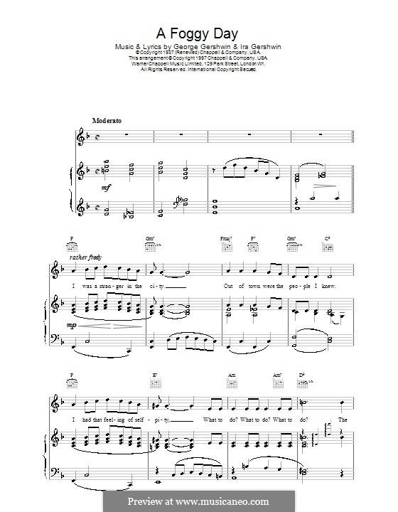 A Foggy Day (In London Town): Для голоса и фортепиано или гитары (Frank Sinatra) by Джордж Гершвин