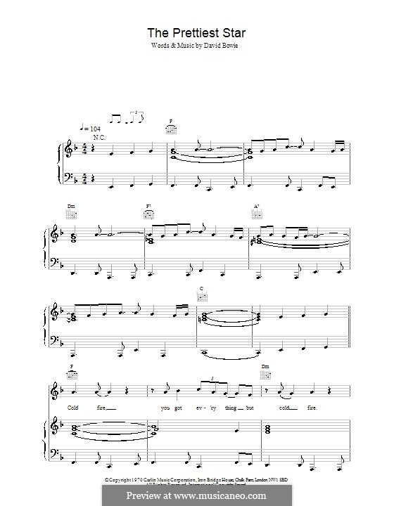 The Prettiest Star: Для голоса и фортепиано (или гитары) by David Bowie