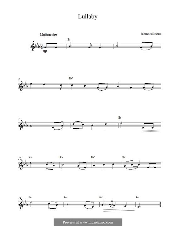 No.4 Колыбельная: Мелодия by Иоганнес Брамс