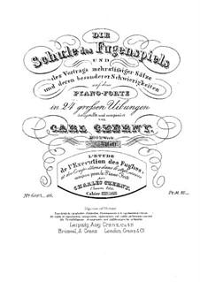 Die Schule des Fugenspiel, Op.400: Vollständiger Satz by Карл Черни