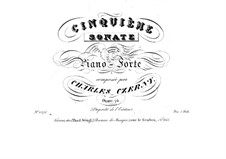 Соната для фортепиано No.5 ми мажор, Op.76: Соната для фортепиано No.5 ми мажор by Карл Черни