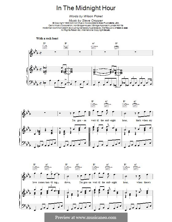 In the Midnight Hour: Для голоса и фортепиано (или гитары) by Steve Cropper, Wilson Pickett