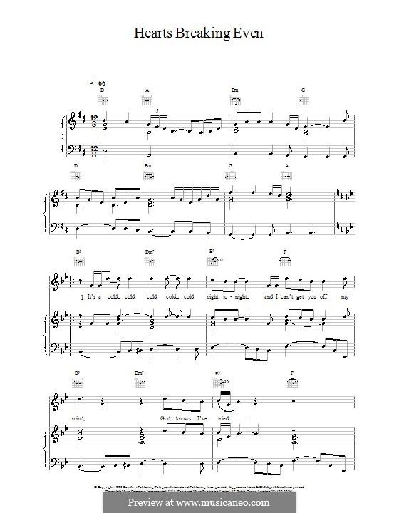 Hearts Breaking Even (Bon Jovi): Для голоса и фортепиано (или гитары) by Desmond Child, Jon Bon Jovi