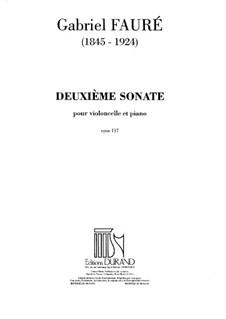 Соната для виолончели и фортепиано соль минор, Op.117 No.2: Соната для виолончели и фортепиано соль минор by Габриэль Форе