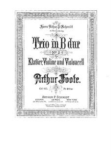 Фортепианное трио No.2 си-бемоль мажор, Op.65: Фортепианное трио No.2 си-бемоль мажор by Артур Фут