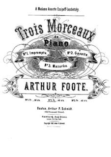 Три пьесы: Сборник by Артур Фут