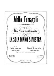 Концертный этюд для левой руки, Op.18: Для фортепиано by Адольфо Фумагалли