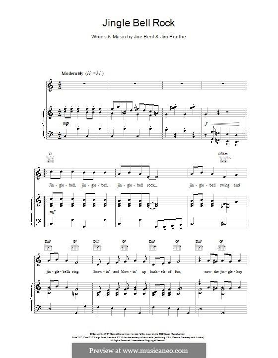 Jingle Bell Rock: Для голоса и фортепиано или гитары (Max Bygraves) by Jim Boothe, Joe Beal